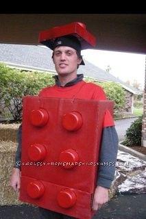 coolest homemade lego man halloween costume