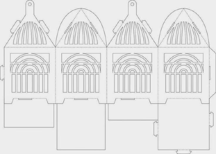 gaiola de papel molde - Pesquisa Google