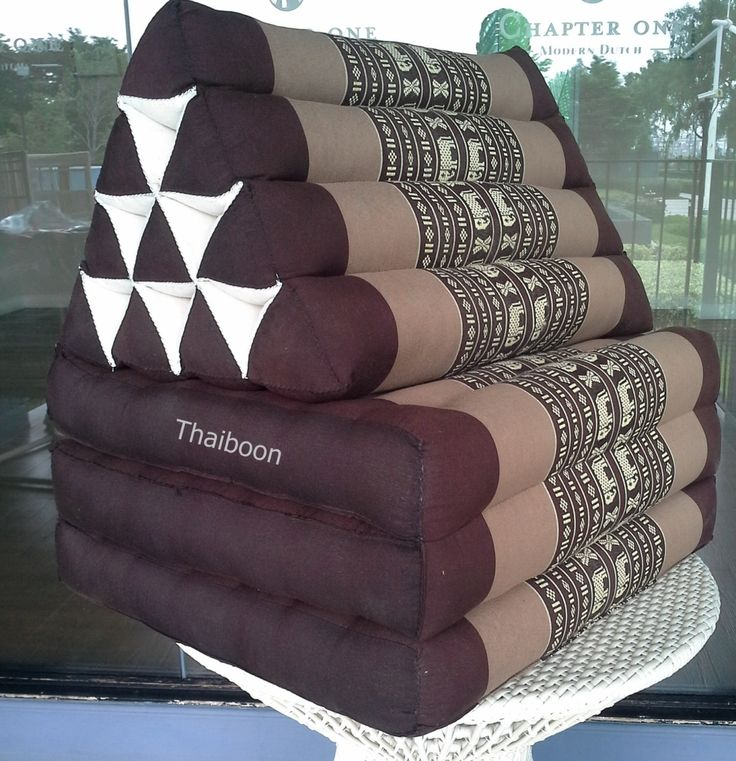 Our traditional three-fold Thai Mattress with triangle cushion is hand stuffed with natural kapok (a fluffy plant fibre). The kapok is packed to provide solid support, and yet is soft and comfort. The outer cover is made of traditional fabric with Thai design. All our Thai cushions are double-stitched for extra strength.  Dimensions  Dimensions (LxWxH inches): 67x21x3inches  Mattress Thickness: 3 inches  Product Features  Material: Kapok Fabric Material - Cover: 100% Cotton Stuffing: 100%…