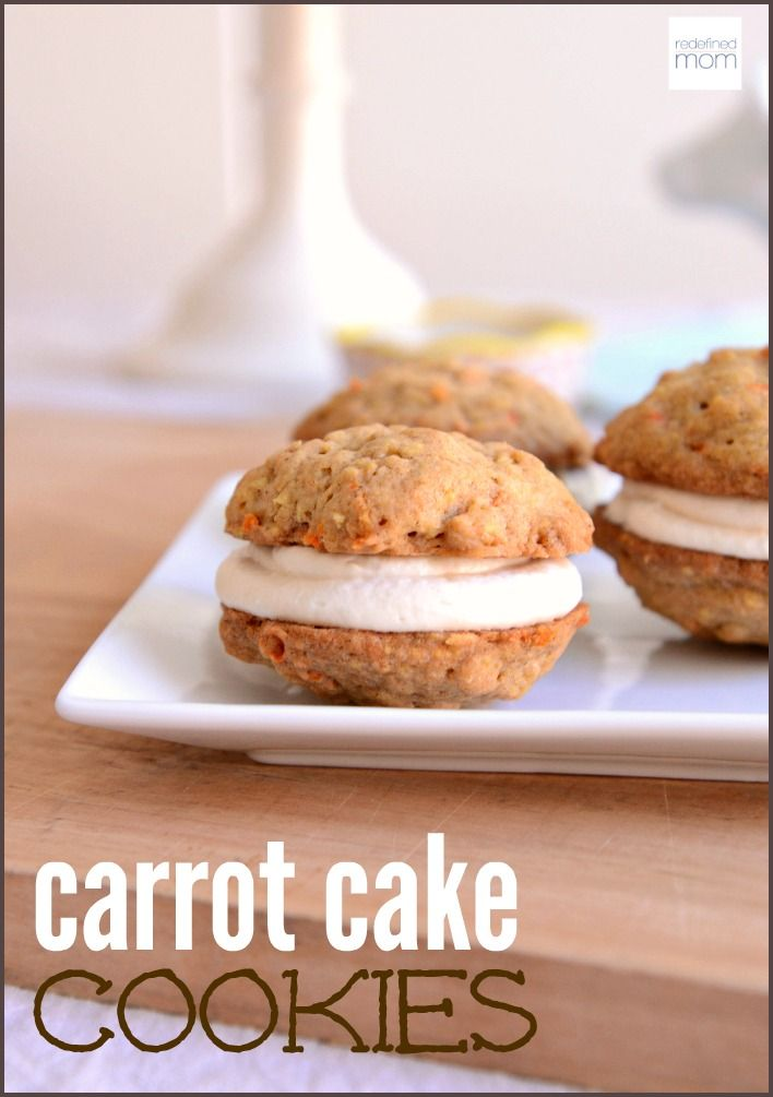 ThisCarrot Cake Cookie Recipe is a copycat from Walt Disney World - it's part cookie, part carrot cake, part cream cheese frosting, and part Little Debbie Oatmeal Cream Pie. And it is divine.