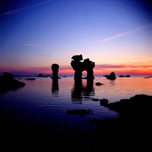 Sunset on Fårö Island in Gotland, Sweden