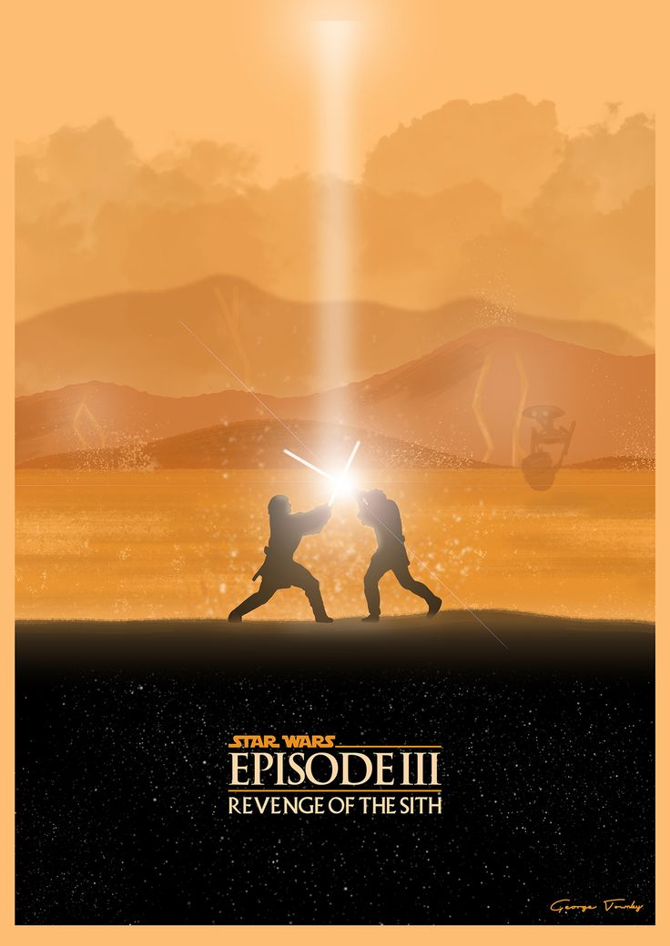 Star Wars Prequel Trilogy Posters - Created by George Townley