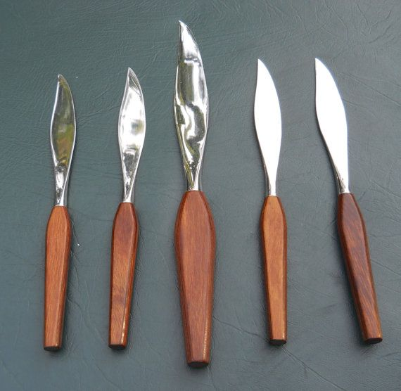 Vintage 5 pc FleetWood Stainless Steel Knife Set by DoodahsAttic, $28.00