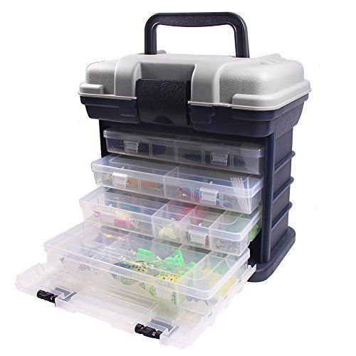 Croch 4-Tray Fishing Tackle Box with Fishing Baits Set  http://fishingrodsreelsandgear.com/product/croch-4-tray-fishing-tackle-box-with-fishing-baits-set/  Small Tackle Box with fishing tools and accessories, Dimensions: 27*17*26 CM Spacious bulk storage, 4 storage box with enough compartments Durable. Made of polypropylene and ABS (Acrylonitrile Butadiene Styrene)