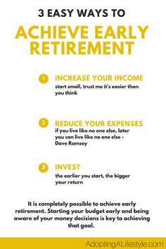 3 Easy Ways to Achieve Early Retirement