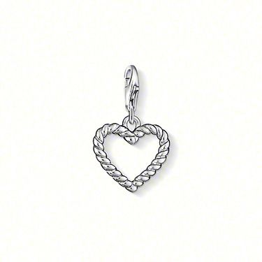"THOMAS SABO Charm pendant ""Heart"" with lobster clasp, 925er Sterling silver, size: 1.5 cm"