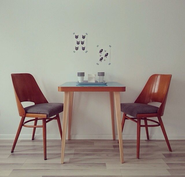 Wood & Paper SOLO collection dining table in use  #woodandpaperpl #woodandpaper