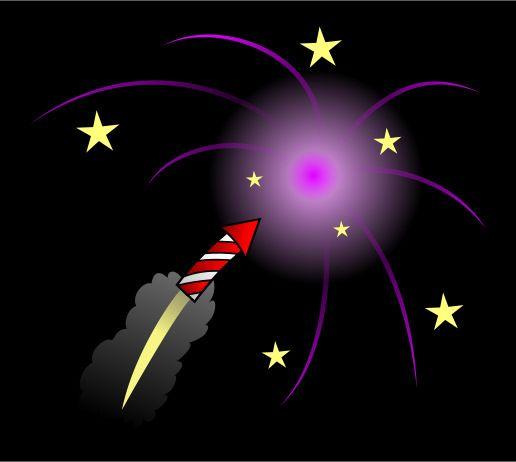 It's loud! It's colorful! It's amazing! It's a cartoon firework!