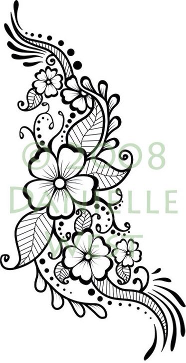 Funky flower design for henna                                                                                                                                                                                 More