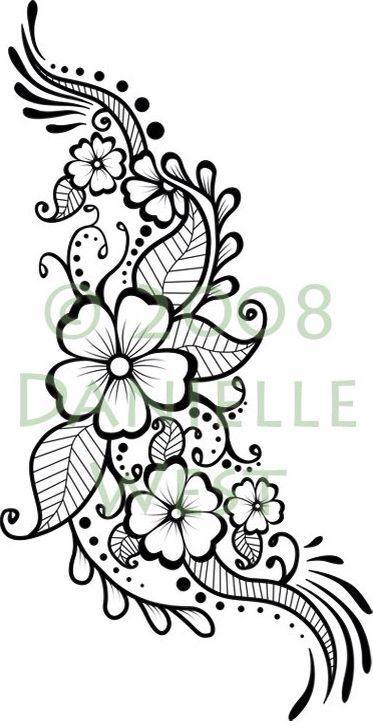 Funky flower design for henna                                                                                                                                                                                 More
