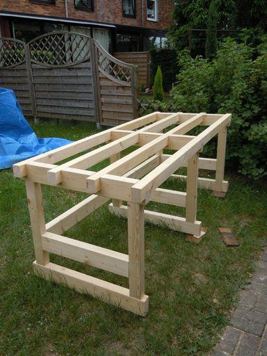 Werktisch Teil I - Unterkonstruktion Bauanleitung zum selber bauen