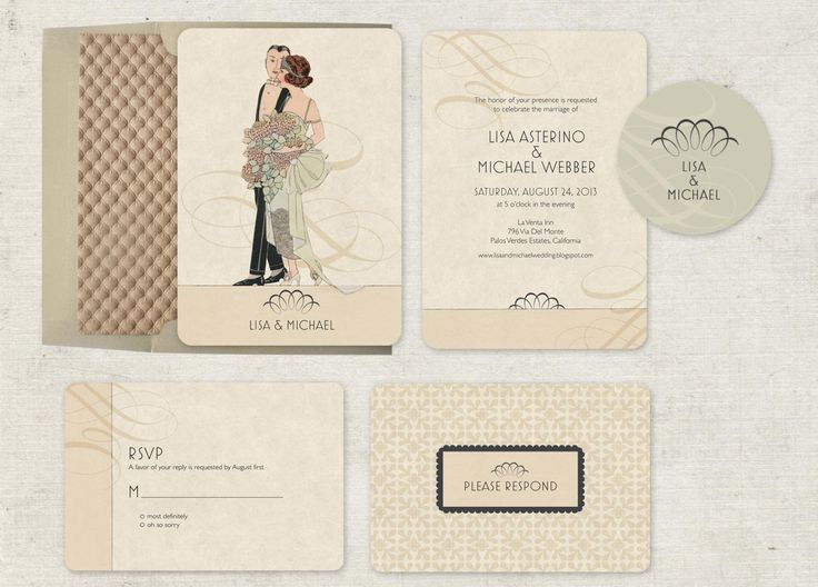 Great Vintage Style Wedding Invitations By GoGoSnap