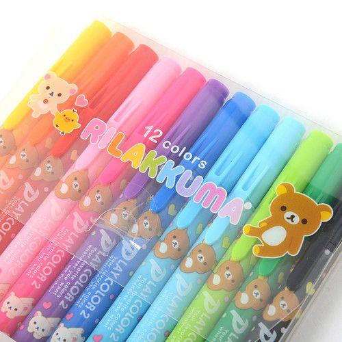 picture of Rilakkuma Play Color 2 Double-Ended Color Pen Set (12 Colors) 2