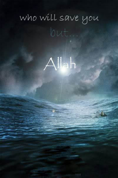 Or [the unbelievers' state] are like the darkness of a fathomless sea which is covered by waves above which are waves above which are clouds, layers of darkness, one upon the other. If he puts out his hand, he can scarcely see it. Those Allah gives no light to, they have no light. (Qur'an, 24:40)