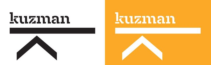 Kuzman Architecture  Designed as both a web navigation system and a corporate identity, the typography for Kuzman Architecture is fittingly bold yet elegant. For the client, it offered a very distinct presence, capitalising on the unique (almost architectural) combination of letters in her surname.