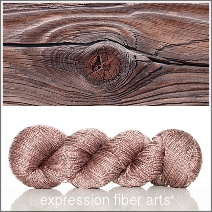 Woodgrain Luster Merino Tencel Sport weight hand-dyed yarn by Expression Fiber Arts