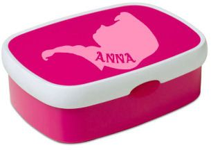 Frozen Anna Name Sticker Decal for School Lunchbox door PaperCandyNL