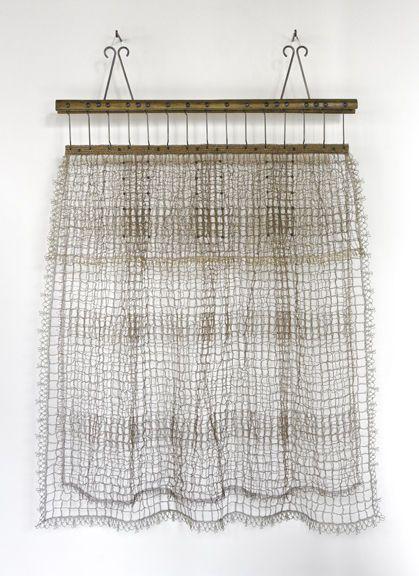 Draped (Screwed), a work of metal crochet art from Tracy Krumm