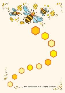 Bee beloningskaarten - te gebruiken als spelbord
