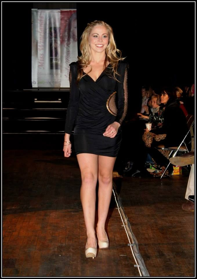 Black cocktail dress with sheer net detail - R500