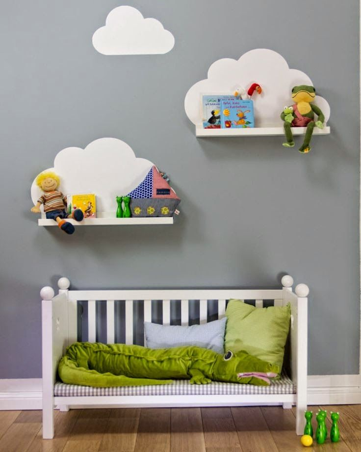 Ikea Hacks With Limmaland. Could use cloud wall stickers instead of painting...