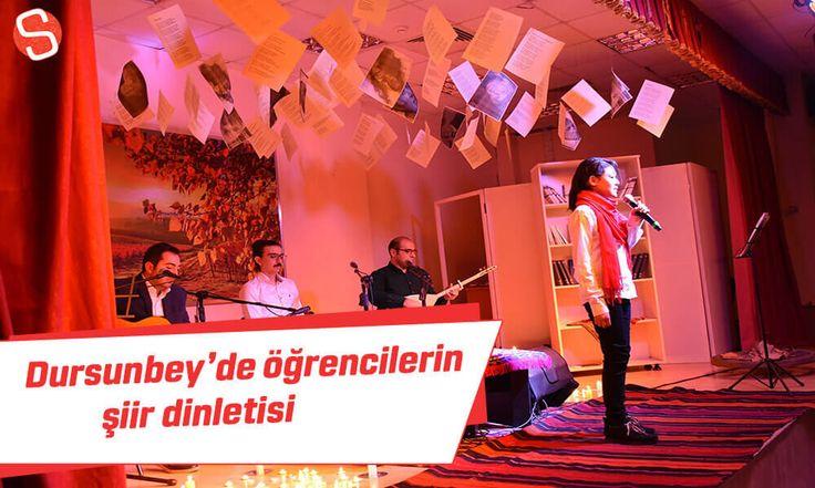 Dursunbey Yatılı Bölge Ortaokulu öğrencileri tarafından şiir dinletisi programı düzenlendi. #dursunbey #şiirdinletisi