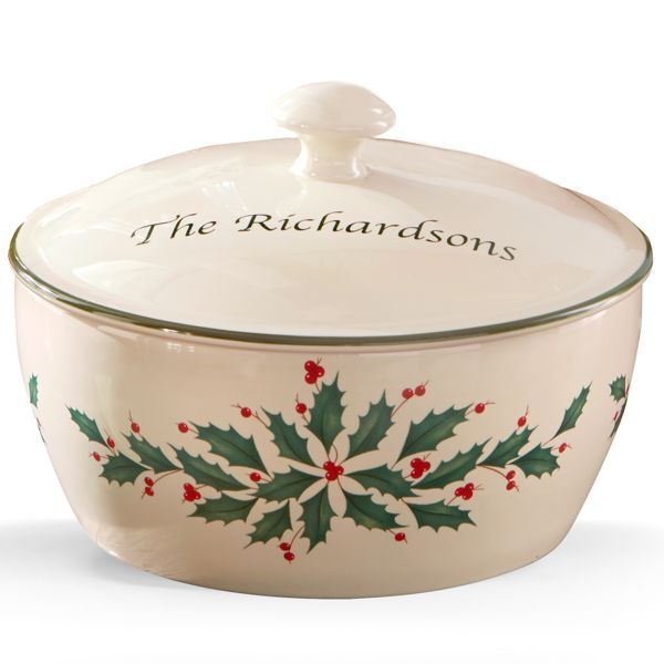 lenox holiday covered casserole - Google Search