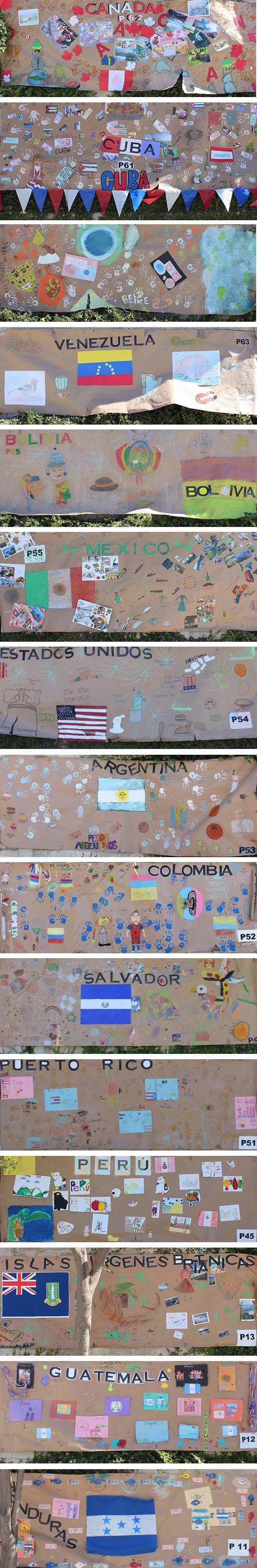 Murales artísticos - Países americanos