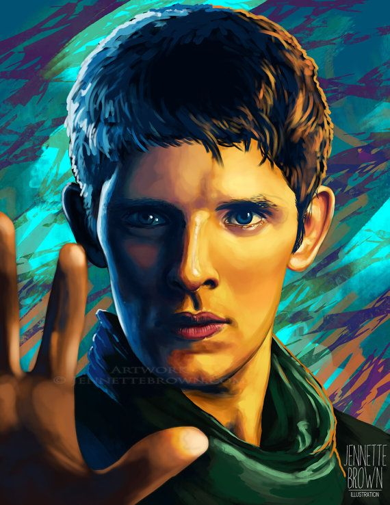 Merlin Colin Morgan Sorcerer Fan Art Prints and by sugarpoultry