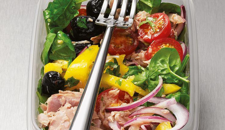Spinat-Tunfisch-Salat
