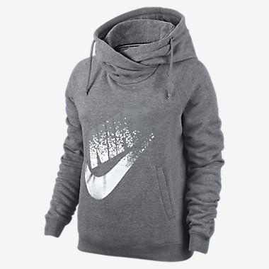 Nike Rally Metallic Funnel Neck Pullover Women's Hoodie
