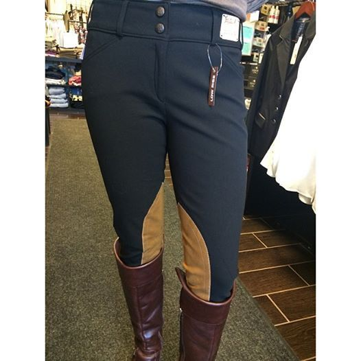 Tailored Sportsman Lowrise Front Zip Trophy Hunter Breeches - Two tone – Willow Equestrian - online tack store