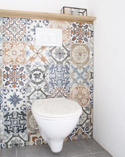 Binnenkijken bij dutchhomedeco - Ons toilet met Nikea tegels van de Praxis
