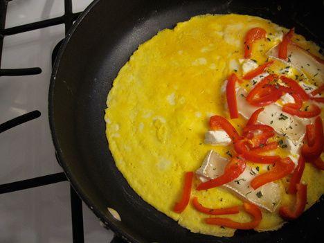 Omelette interior