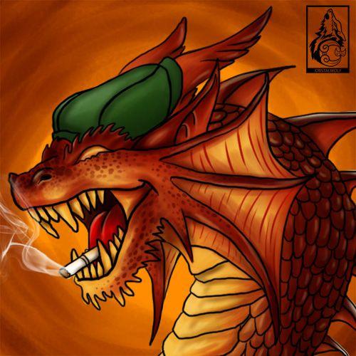 Avatar presente para um amigo dragão fumante