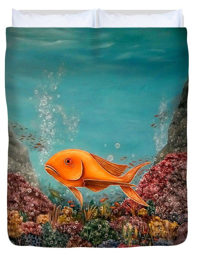 Duvet Cover,  home,accessories,bedroom,decor,cool,unique,fancy,artistic,trendy,unusual,awesome,beautiful,modern,fashionable,design,for,sale,items,products,ideas,turquoise,blue,colorful,multicolor,fish,ocean,underwater
