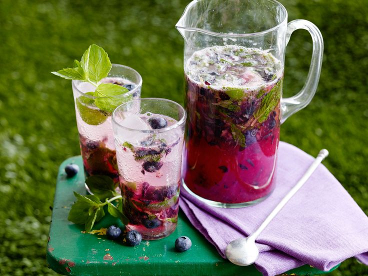 Blueberry Ginger Mojito Pitchers
