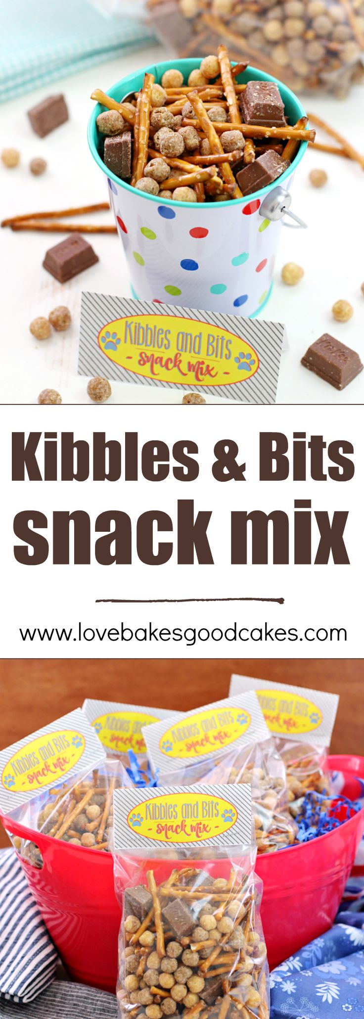 Enjoy watching the new The Secret Life of Pets movie with this easy to make Kibbles & Bits Snack Mix with a FREE Printable! Great for any pet or animal themed parties, too!: