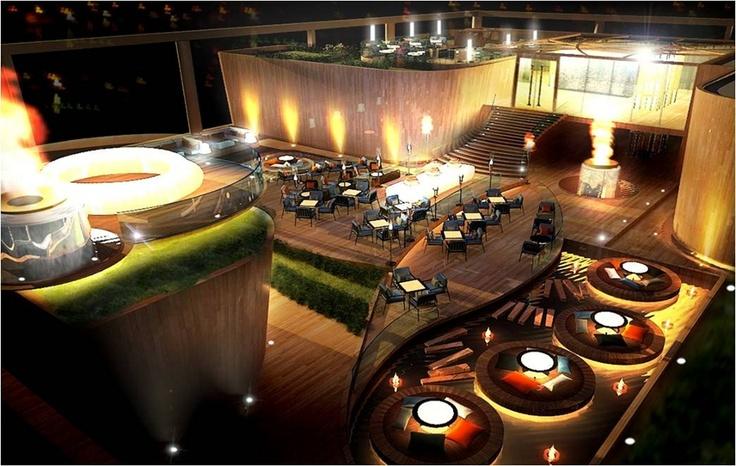 Rooftop venue design for Kolkata