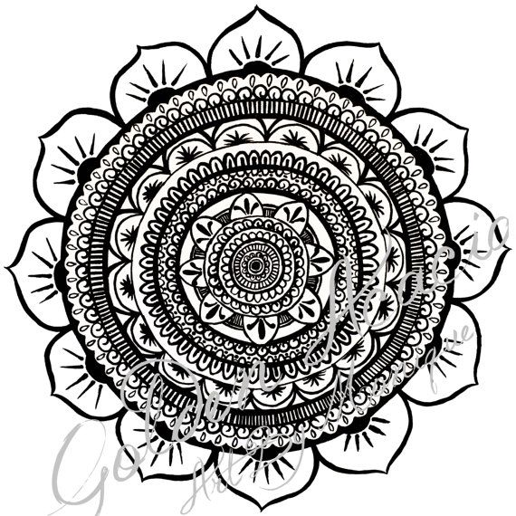 Acacia Mandala: Original Pen and Ink painting representing wholeness, flowers, the earth, moon and sun, the universe and the circle of life on Etsy, $25.00 AUD