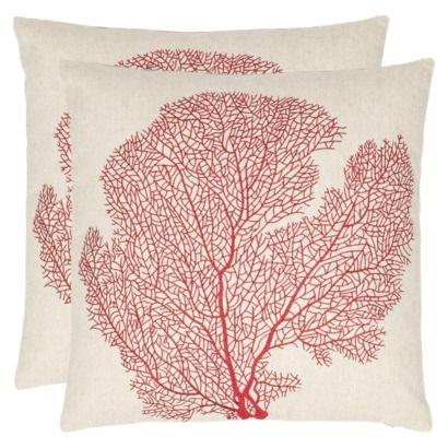 Safavieh 2-Pack Velvet Floral Toss Pillows (18x18