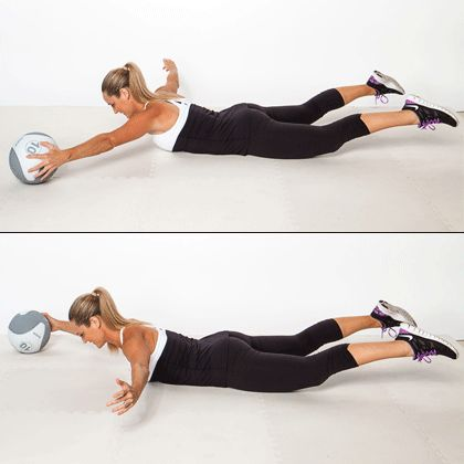 All you need is a ball for this tough back-sculpting move