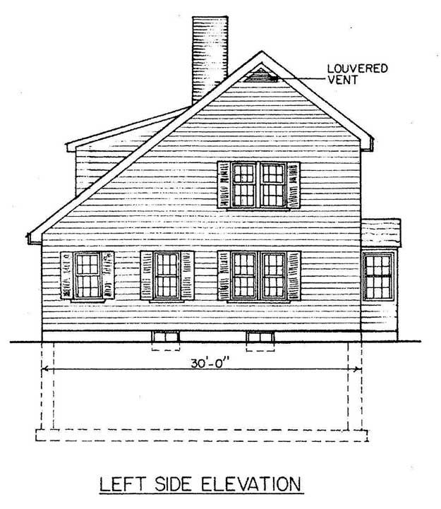 Saltbox House Blueprint...in An Ideal World I Would Build This.
