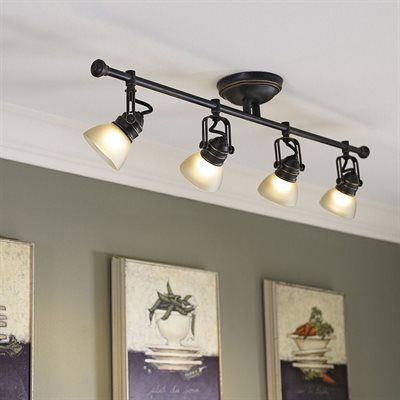 Best 25 craftsman track lighting kits ideas on pinterest allen roth tucana 4 light 3475 in oil rubbed bronze dimmable fixed track aloadofball Gallery