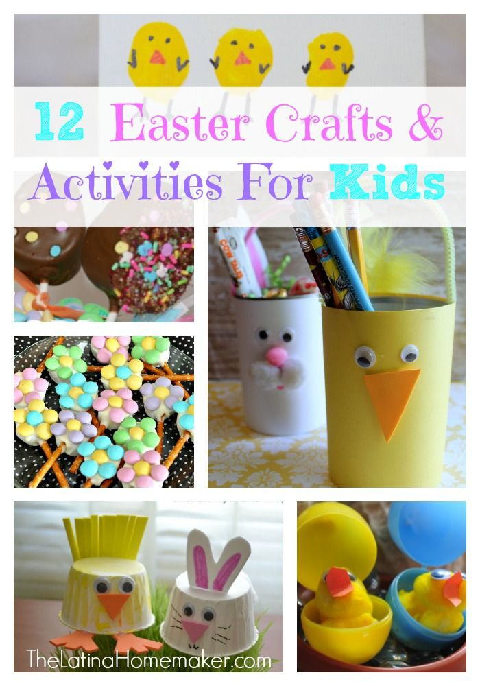 12 Fun Easter Crafts and Activities For Kids. There's something fun for everyone!