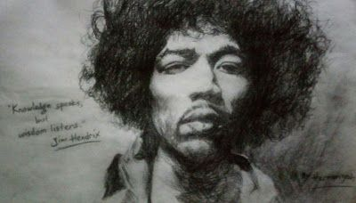 Filani Art: Drawing of Jimi Hendrix