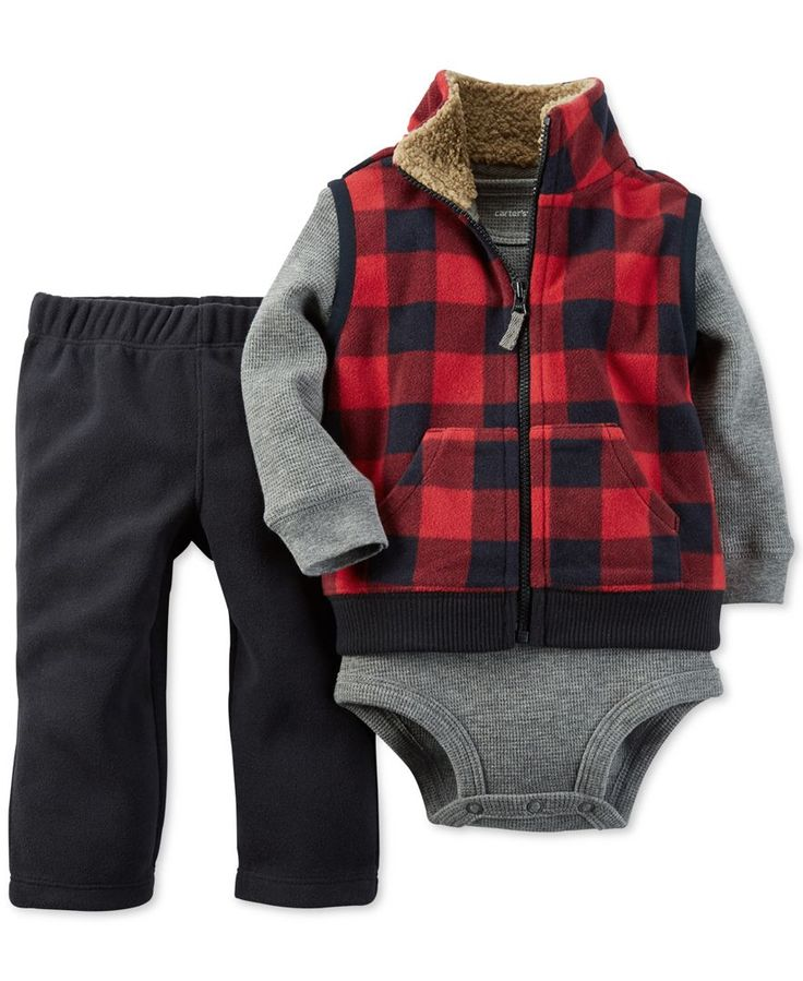 Carter's Baby Boys' Vest, Pants and Bodysuit 3-Piece Set - Kids & Baby - Macy's