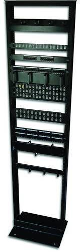 7ft-Open-Frame-23-034-45U-2-Post-Black-IT-Network-Server-Relay-Rack-900lbs-Capacity