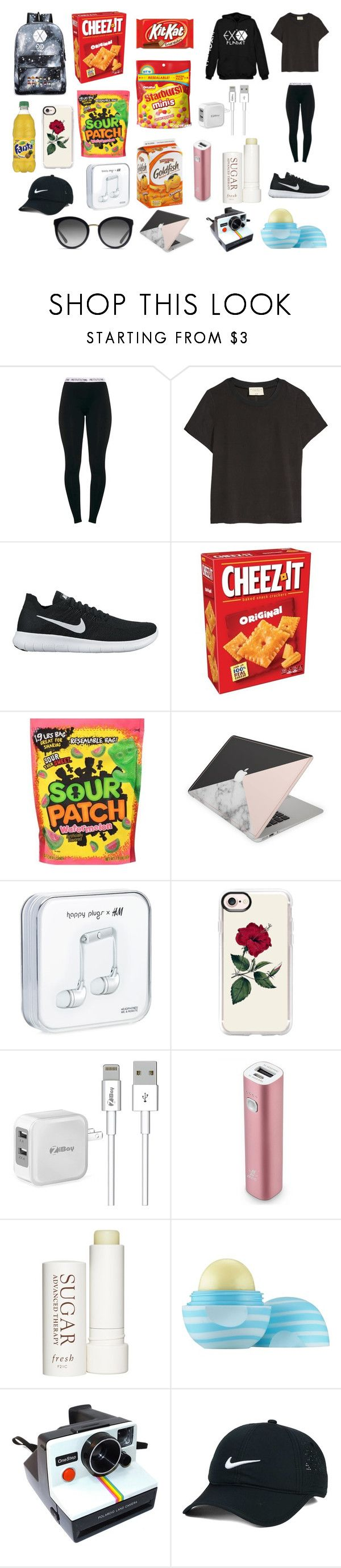 """EXO Dance Practice Outfit"" by thatonefangirl224 on Polyvore featuring NIKE, Casetify, Samsung, Therapy, Eos, Polaroid and Dolce&Gabbana"