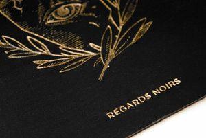 REGARDS-NOIRS_gravure_bois // Logo - bois - plexi - pancarte -logotype - marque - plexiglas - gravure - decoupe - enseigne - atelier - personnalisation -personnalisable - dore - doré - wood - plexiglass - sign - engraving - cutting - sign - workshop - personalization - customizable - brand - laser -lasercut -cut - lasercutting - engrave
